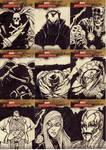 marvel sketch cards 115to123