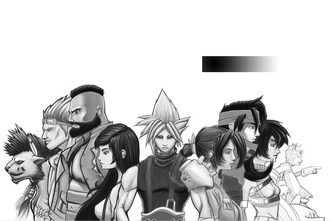 Epic FF7 Whole Crew by Paterack