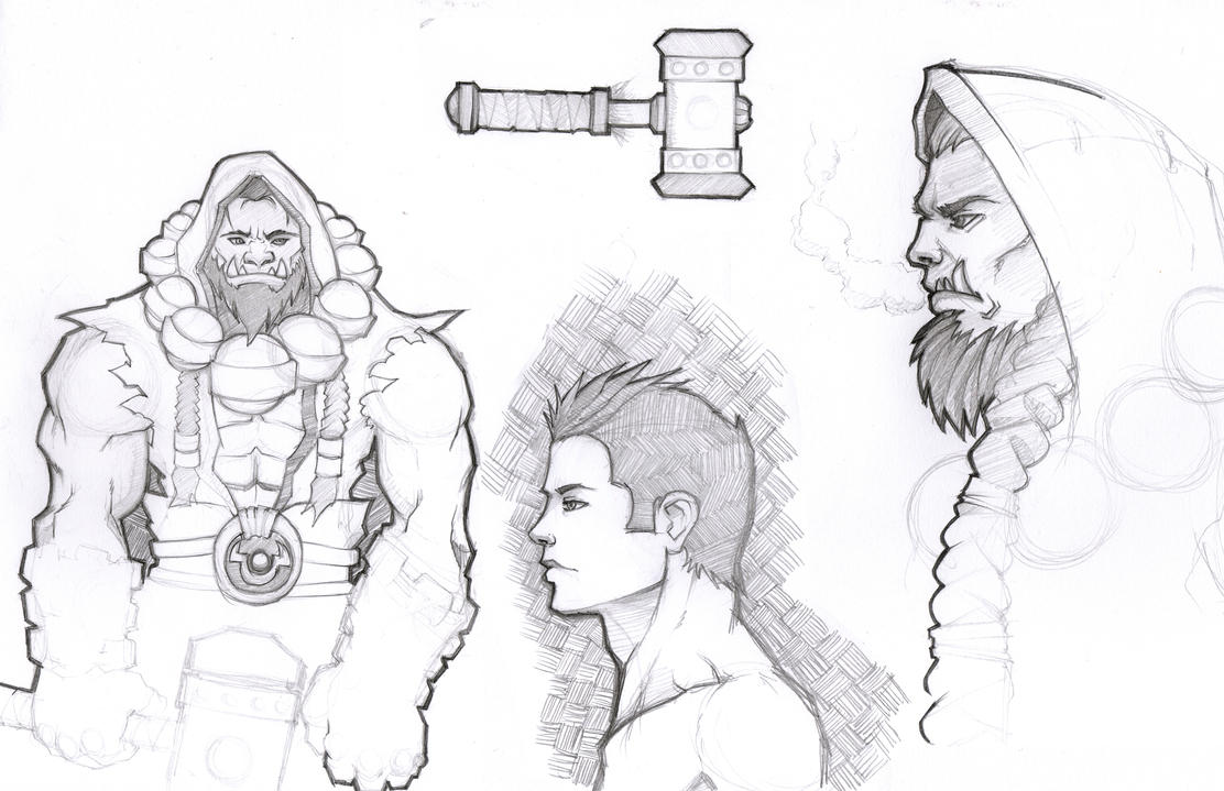 Thrall and company sketch dump by Paterack