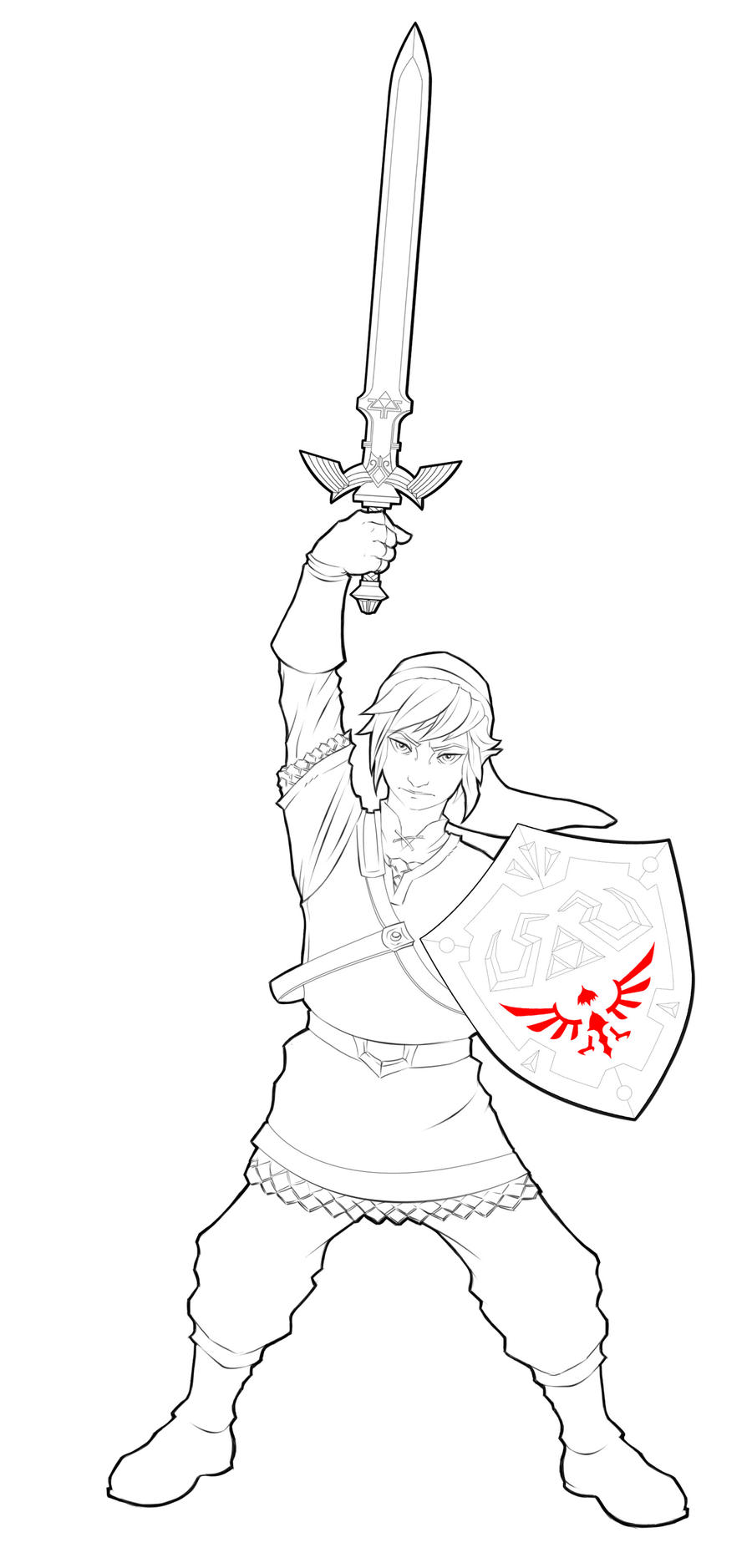 Link, The Hero of Legend lineart by Paterack