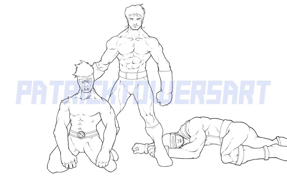 Vulcan, Havok and Cyclops by Paterack