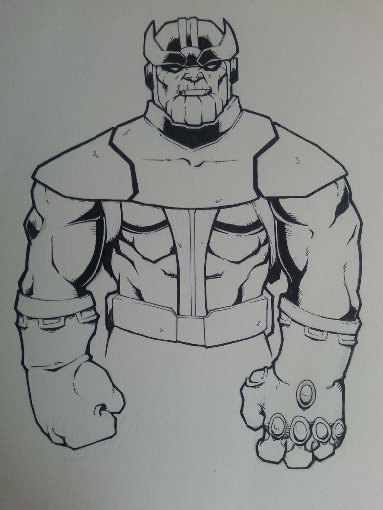 Thanos inked by Paterack