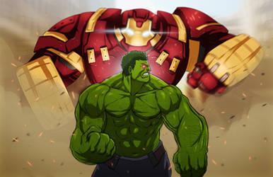 Hulk vs. Hulkbuster by Paterack