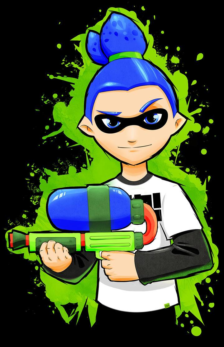 Squid Kid - Splatoon Inkling Boy by Paterack