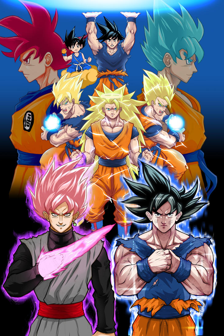 Evolution of Goku by Paterack