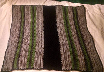 Mountain Trail Snuggly Baby Blanket by KittySib