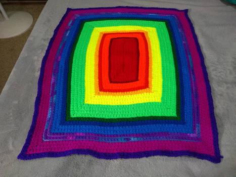 Two Toned Rainbow Baby Blanket