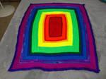 Two Toned Rainbow Baby Blanket by KittySib