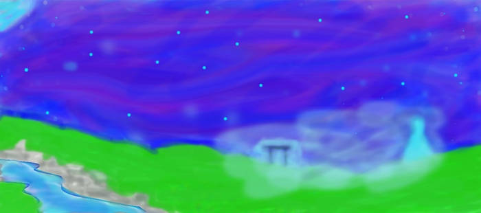 Mystic Traveler On A Hazy Night resized