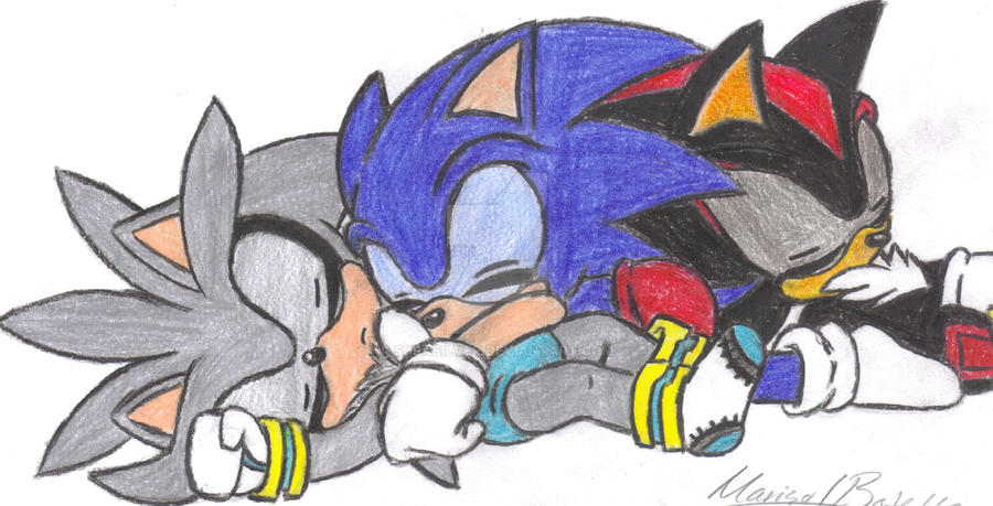 Baby Sonic Shadow And Silver By Supasilver On Deviantart