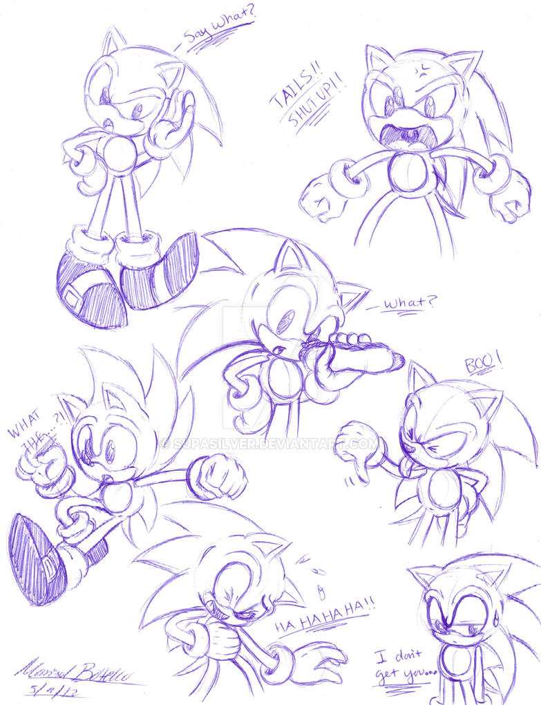 how to draw classic sonic