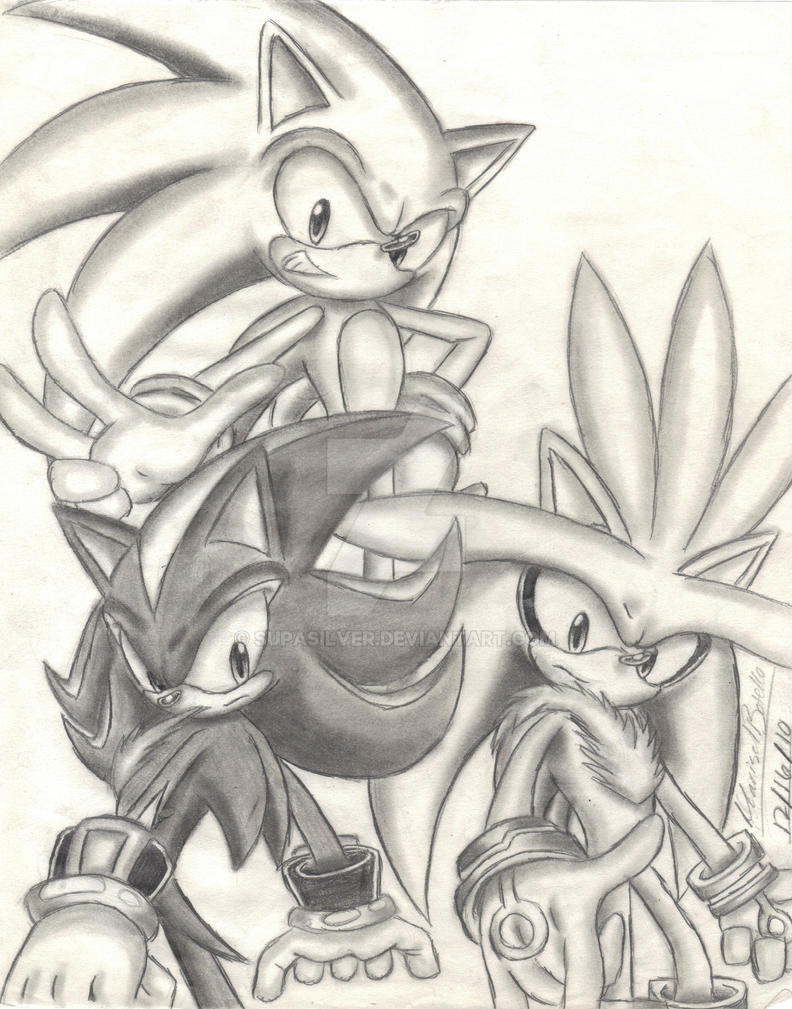 Sonic Silver and Shadow Sketch by SupaSilver on DeviantArt