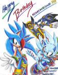 Art Trade: Happy Birthday NIGHTSANDSONIC!!!
