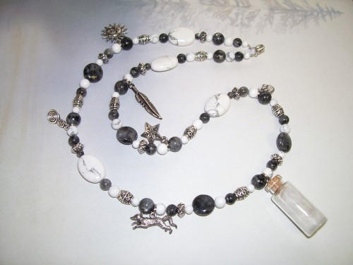 Arctic Fox Spirit Totem Charm Necklace