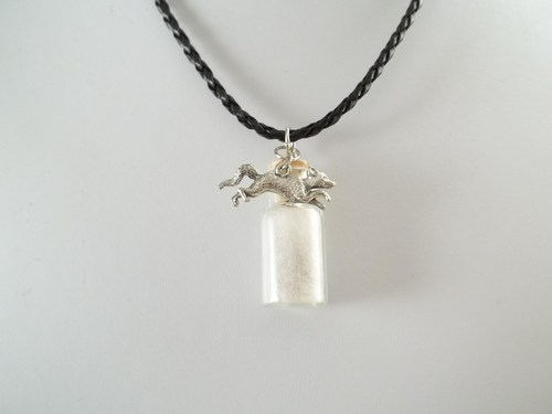 Arctic Fox Spirit Totem Pendant Necklace 2 by DaybreaksDawn