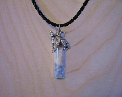 White Wolf Celestial Angel Pendant 2 by DaybreaksDawn