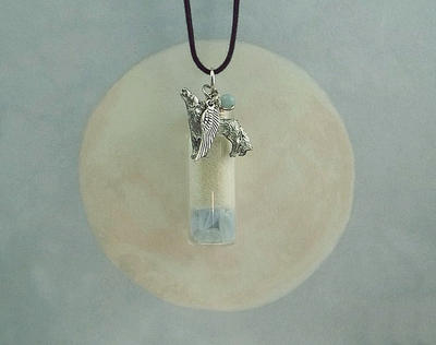 White Wolf Sky Spirit Pendant by DaybreaksDawn