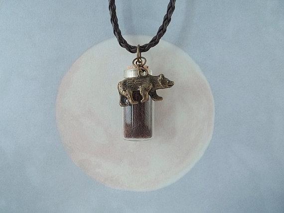 Bronze Black Bear Spirit Totem Pendant by DaybreaksDawn