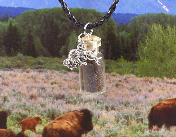 American Bison Spirit Totem Pendant by DaybreaksDawn