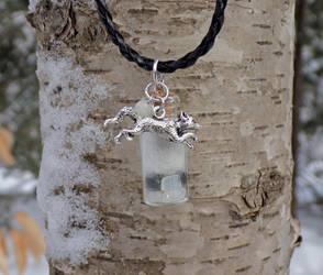 Arctic Fox Spirit Mystic Healing Pendant
