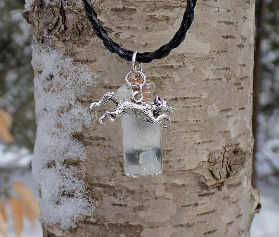 ae1d1762ab423 Arctic Fox Spirit Mystic Healing Pendant by DaybreaksDawn on DeviantArt