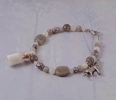 White Wolf Mystic Spirit Charm Bracelet