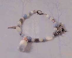 Celestial White Wolf Spirit Angel Bracelet