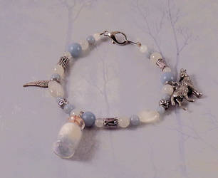 Celestial White Wolf Spirit Angel Bracelet by DaybreaksDawn