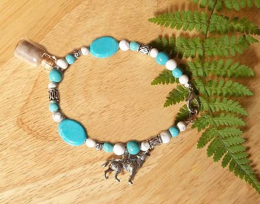 Desert Wolf Spirit Charm Bracelet