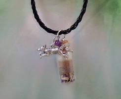 Triple Fox Spirits Healing Pendant