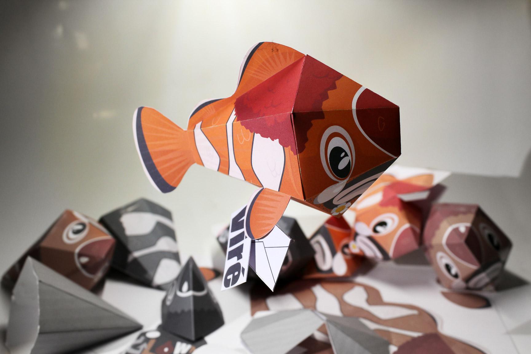 Papertoy poisson deprefish by guillaumedesc on deviantart - Poisson marrant ...