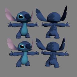 Disney 3D Stitch Textured