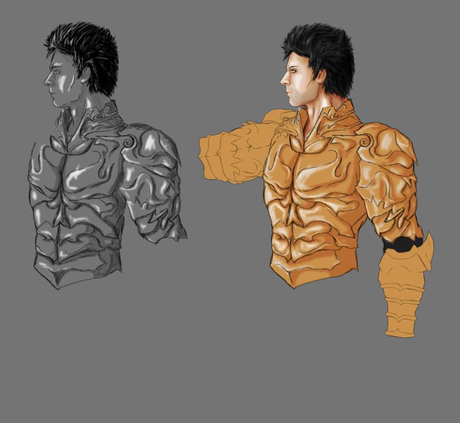 Wrath - the Third Original WIP basic Armour by 3DPad