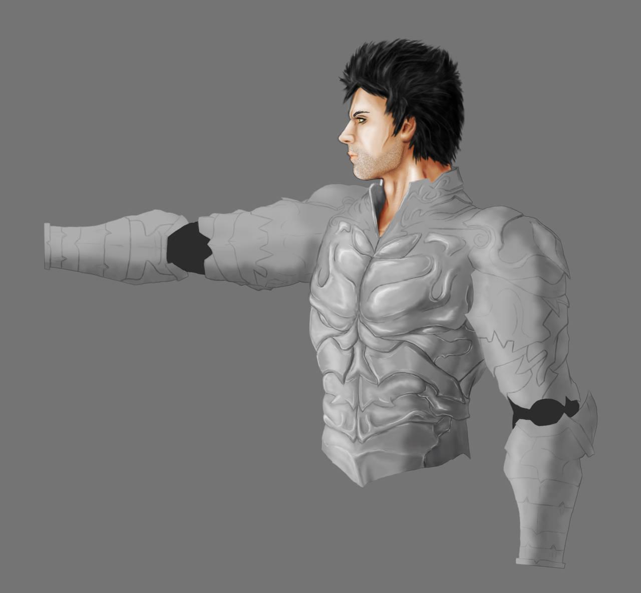 Wrath - the Third Original WIP Silver Armour by 3DPad
