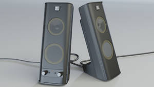 Logitech Speakers - 3D render by 3DPad