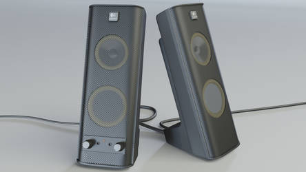Logitech Speakers - 3D render by 3DPad