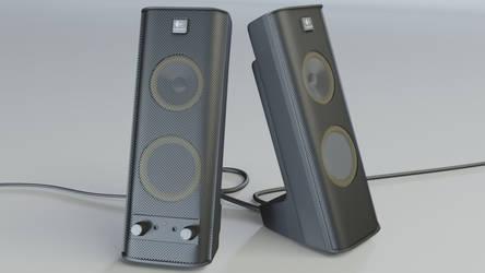 Logitech Speakers - 3D render