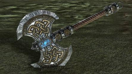 Dwarf Axe - 3D render