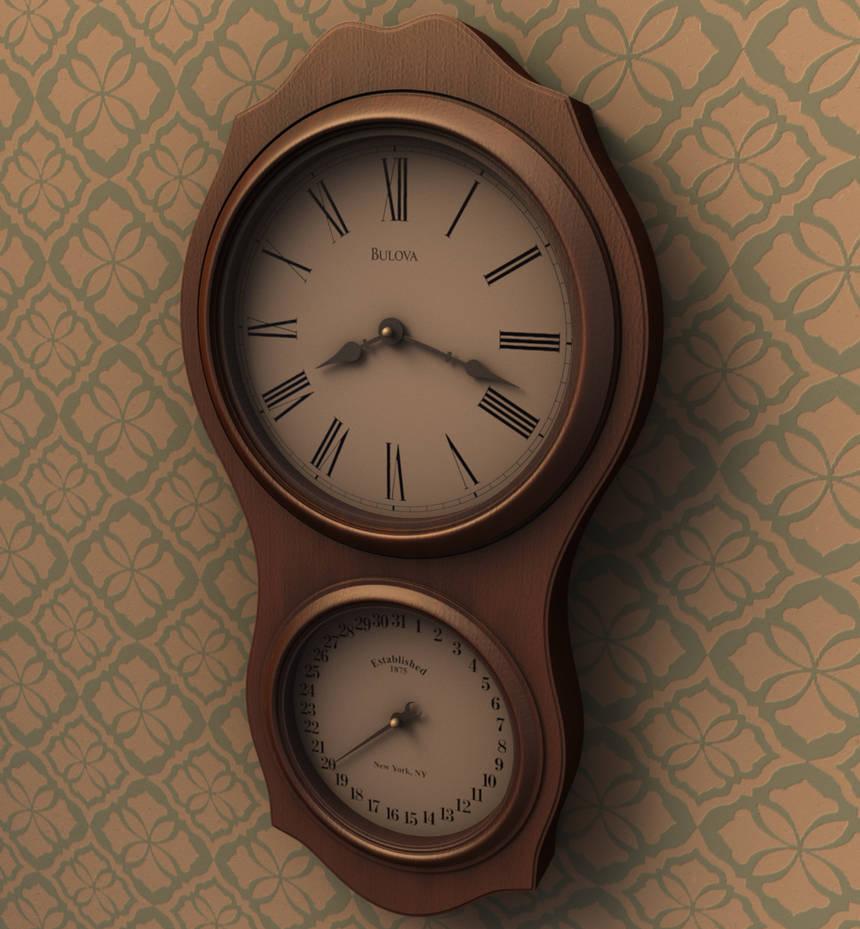 Wall Clock - 3D Render by 3DPad