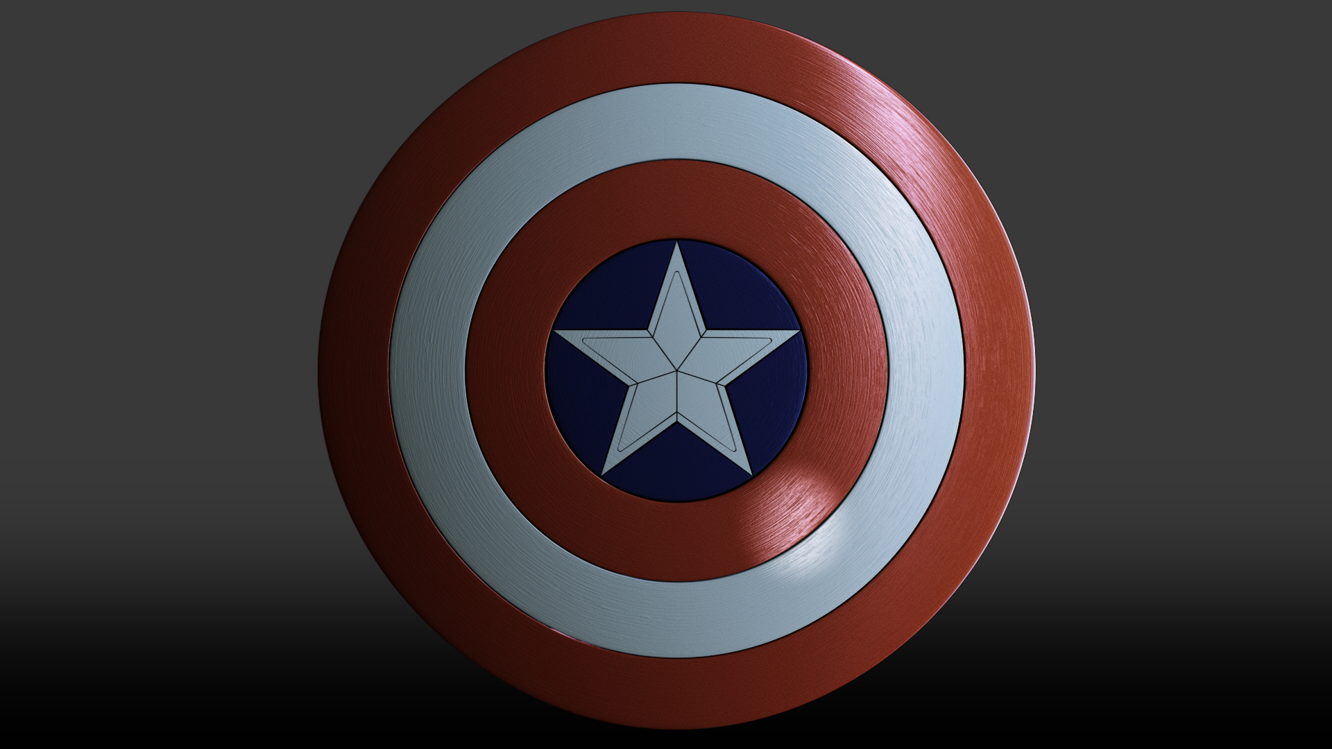 Captain America - 3D Shield by 3DPad