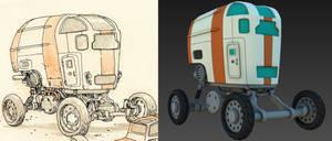 Desert Wheels - 3D WIP 2