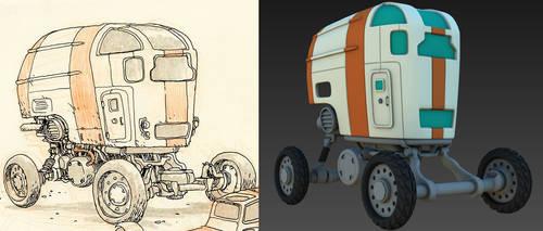 Desert Wheels - 3D WIP 2 by 3DPad