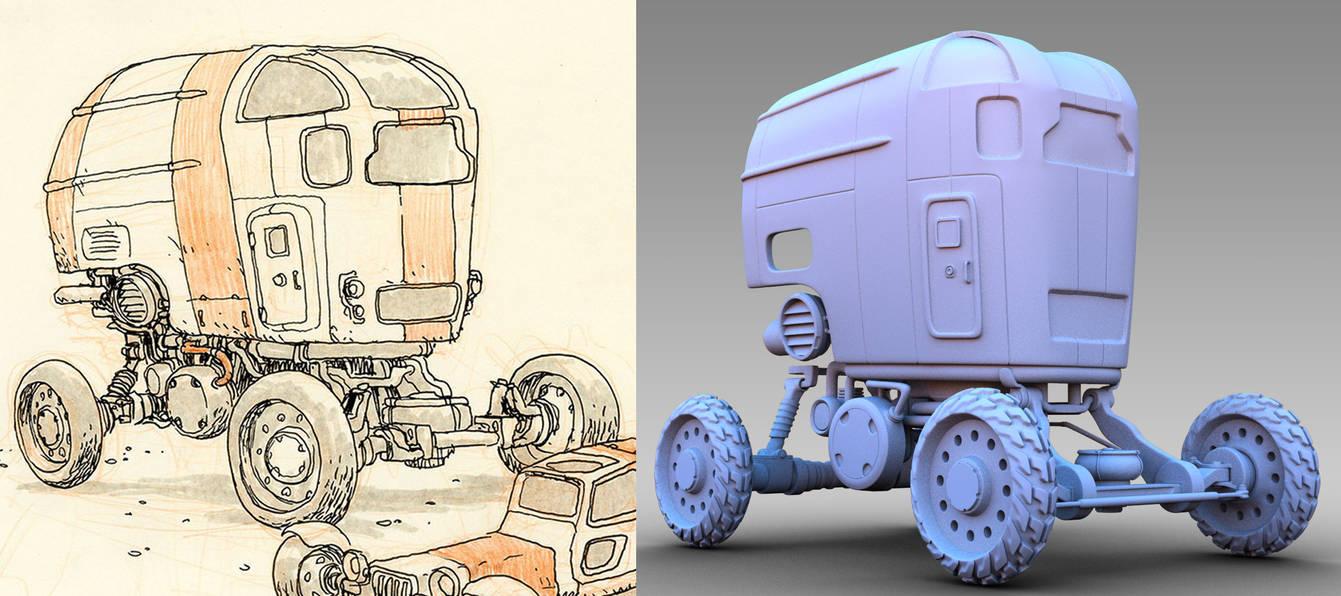 Desert Wheels - 3D WIP 3 by 3DPad