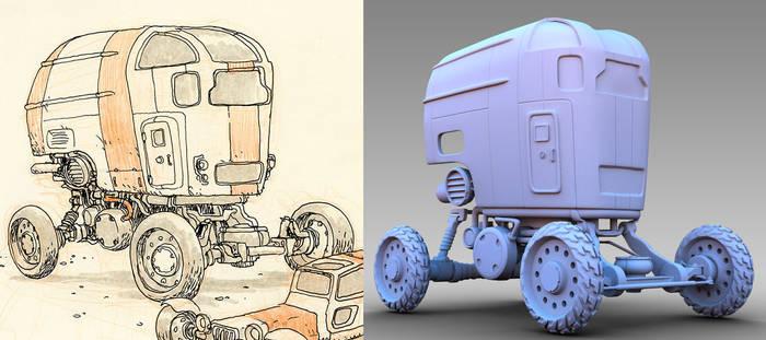 Desert Wheels - 3D WIP 3