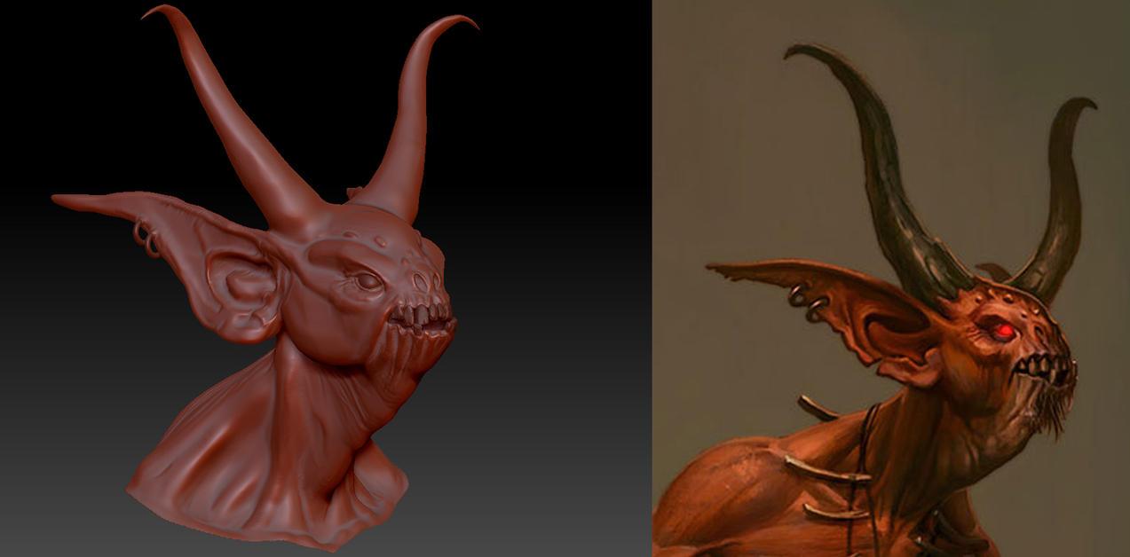 Diablo 3 - Fallen Shaman WIP 3 by 3DPad