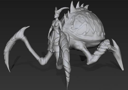 Spider Queen WIP 2 - Zbrush