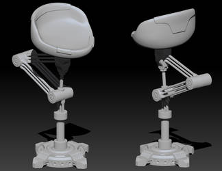Bar Stool Concept - Zbrush by 3DPad