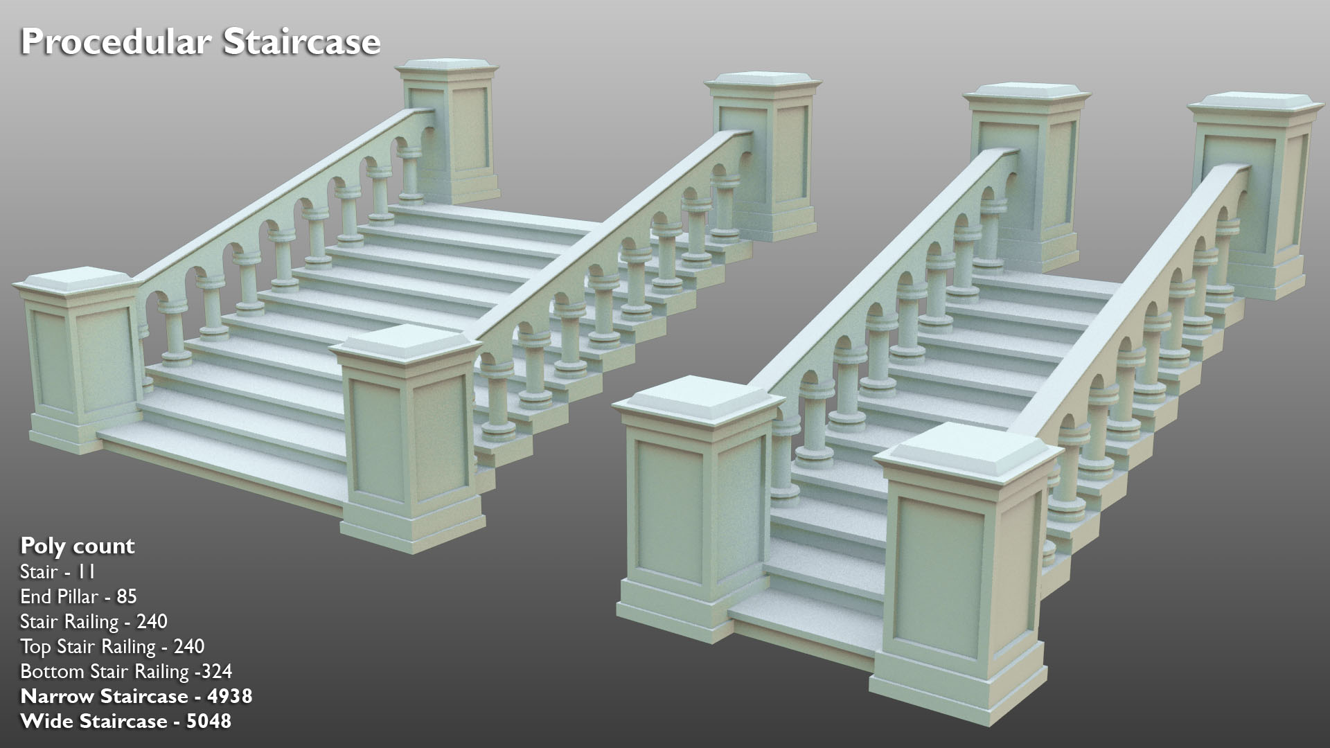 Procedural Staircase - 3D preview by 3DPad