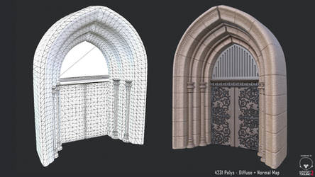 Castle Entrance - In-Game Model