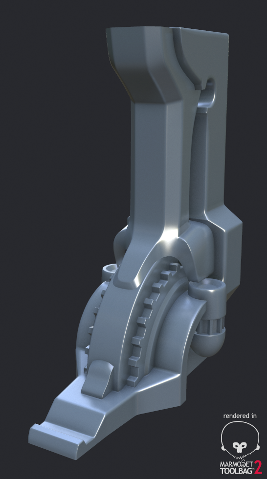 Sci-Fi Column - High poly WIP1 by 3DPad